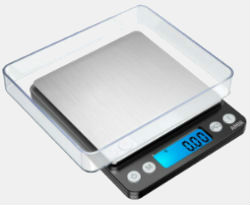 Amir Upgraded Digital Weed Scale 500x0.01g Black