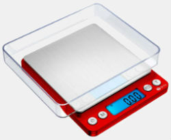 Amir Upgraded Digital Weed Scale 500x0.1g Red