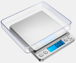 Amir Upgraded Digital Weed Scale 500x0.01g Silver