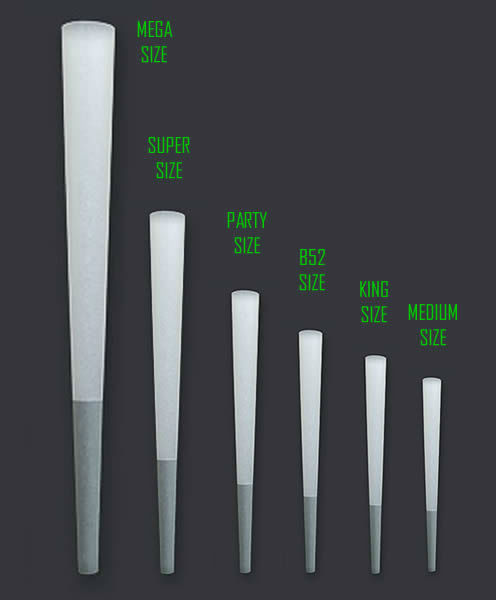 JWare Pre Rolled Cone Sizes