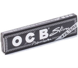 OCB Premium King Size Slim Papers With Tips