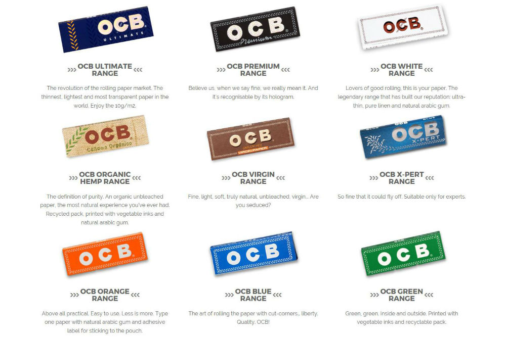 Types of OCB Rolling Papers