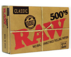 RAW Classic 1 1/4 500's Rolling Papers