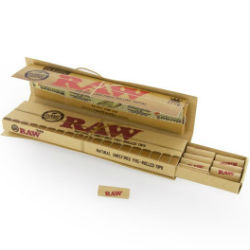 RAW Classic King Size Slim Papers Connoisseur with Pre Rolled Tips