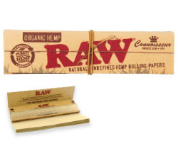 RAW Organic Hemp KSS Rolling Papers with Tips