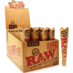 Raw Classic 1 1/4 Pre Rolled Cones