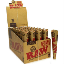Raw Classic King Size Pre Rolled Cones