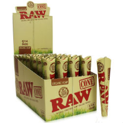 Raw Organic 1 1/4 Pre Rolled Cones