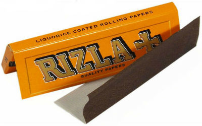 Rizla Orange (Licorice) Single Wide Rolling Papers
