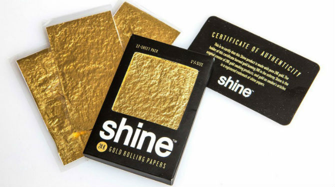 Shine 24K Gold 1 1/4 Rolling Papers