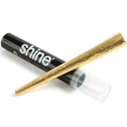 Shine 24K Gold King Size Pre Rolled Cones