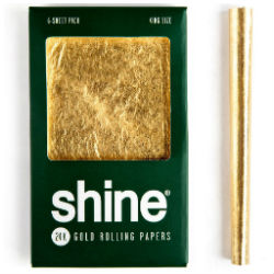 Shine 24K Gold King Size Rolling Papers