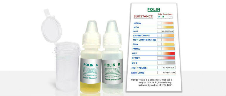 TestKitPlus Folin Test Kit – MDMA, MDA, and MDE