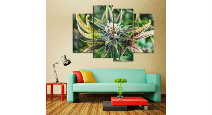 Cannabis Decor Canvas