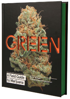 Weed Decor Green Coffee Table Book
